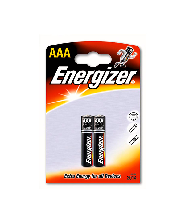 Батарейка AAA (LR03), Energizer, 2 шт