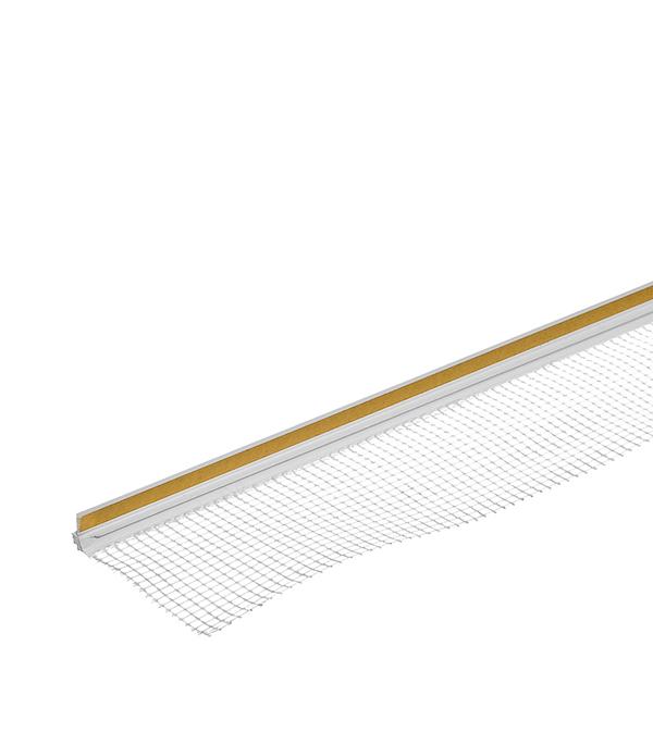 Профиль примыкания оконный самоклеящийся с сеткой (пластиковый) 6 мм, 2,4 м