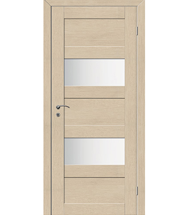 Дверное полотно ДПО экошпон TREND 5P Капучино со стеклом 620х2000 мм с притвором дверное полотно экошпон trend 5p венге 720x2000 мм с притвором