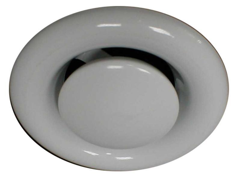 Диффузор вытяжной регулируемый d160 мм стальной белый