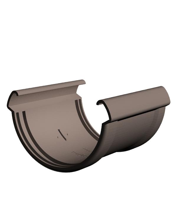 Соединение желоба пластиковое шоколад, DOCKE LUX заглушка желоба пластиковая универсальная пломбир docke lux