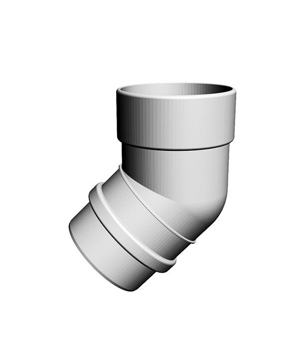 Колено трубы пластиковое d100 мм 45° пломбир, DOCKE LUX заглушка желоба grand line универсальная красное вино металлическая