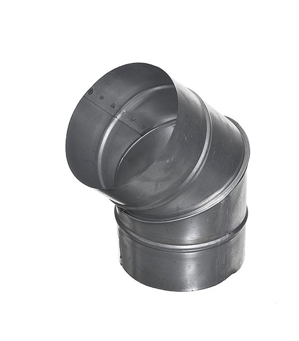Отвод для круглых воздуховодов оцинкованный d125 мм на 45°