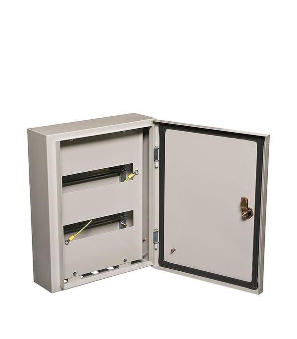 Щиток навесной IEK ЩРН для 24 модулей металлический IP54 щиток навесной schneider electric kaedra для 24 модулей пластиковый ip65