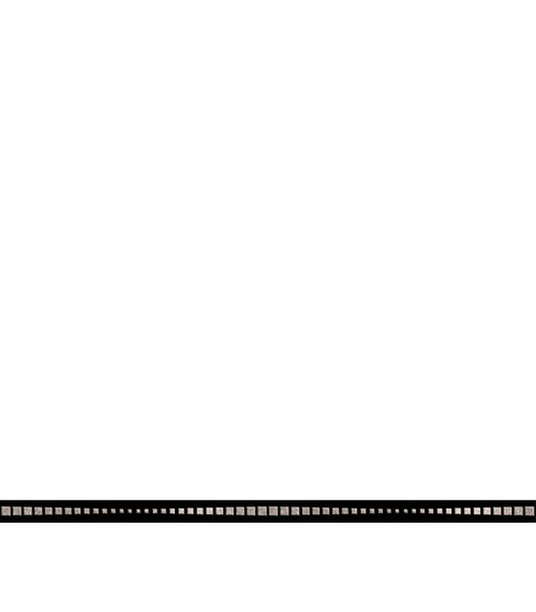 Керамогранит бордюр 25х600х10,5 мм Канны черный/Керамика Будущего