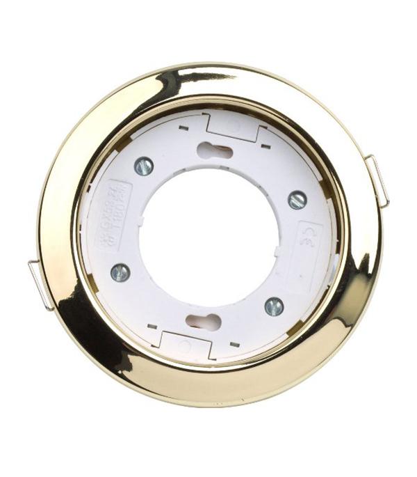 Светильник встраиваемый круглый золото 1хGX53 (220В), IP20