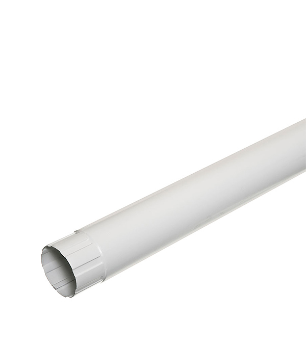 Водосточная труба Grand Line d90 мм белая 1 м металлическая лоток металлический перфорированный 300х50 мм 3 м дкс