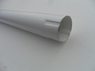Труба водосточная соединительная металлическая d90 мм белая 1 м Grand Line