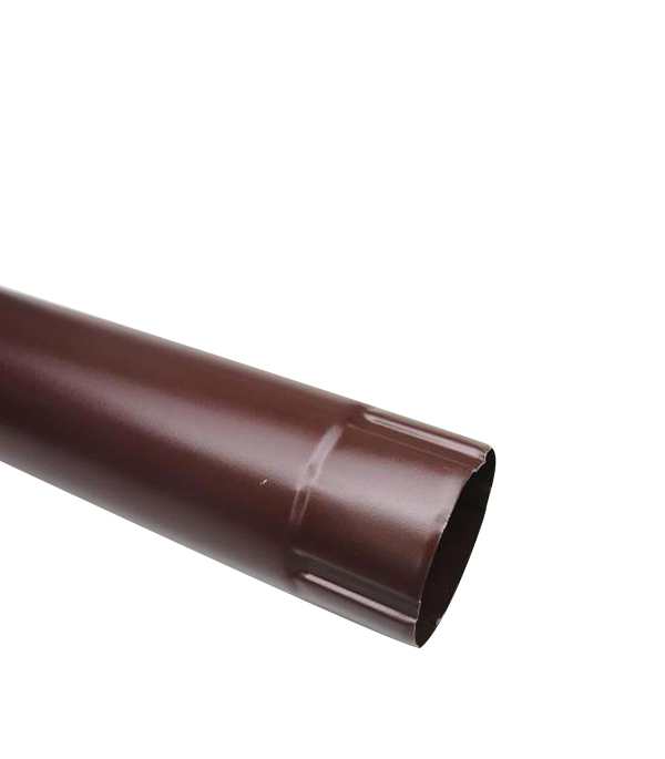 Водосточная труба Grand Line d90 мм коричневая 1 м металлическая кронштейн крюк желоба металлический 70 мм коричневый grand line