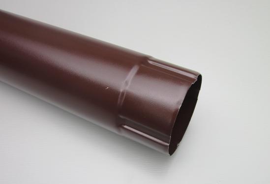 Труба водосточная соединительная металлическая d90 мм коричневая  1 м Grand Line