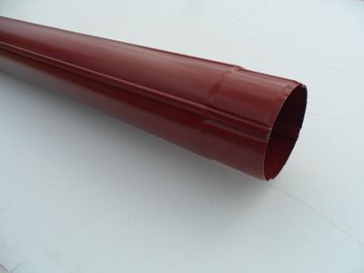 Труба водосточная соединительная металлическая d90 мм красная 1 м Grand Line