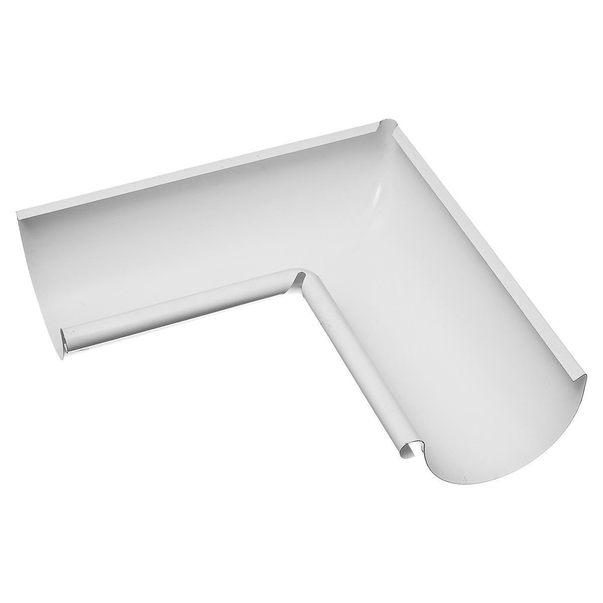 Угол желоба внутренний металлический 125/90° белый Grand Line