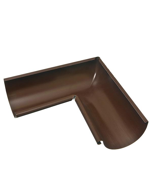 Угол желоба внутренний Grand Line 125/90° коричневый металлический