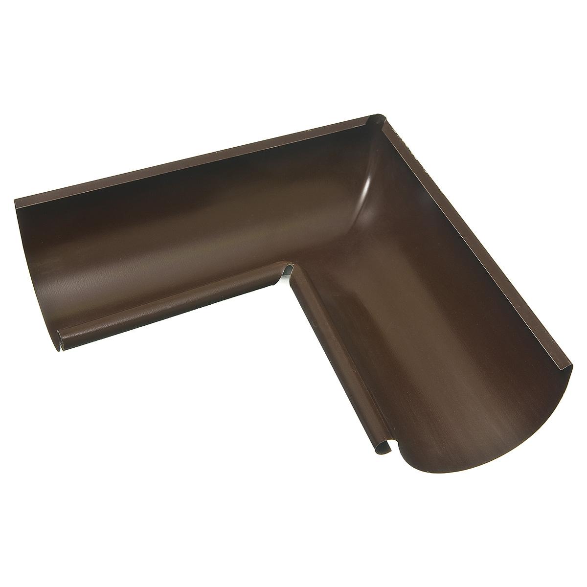 Угол желоба внутренний металлический 125/90° коричневый Grand Line