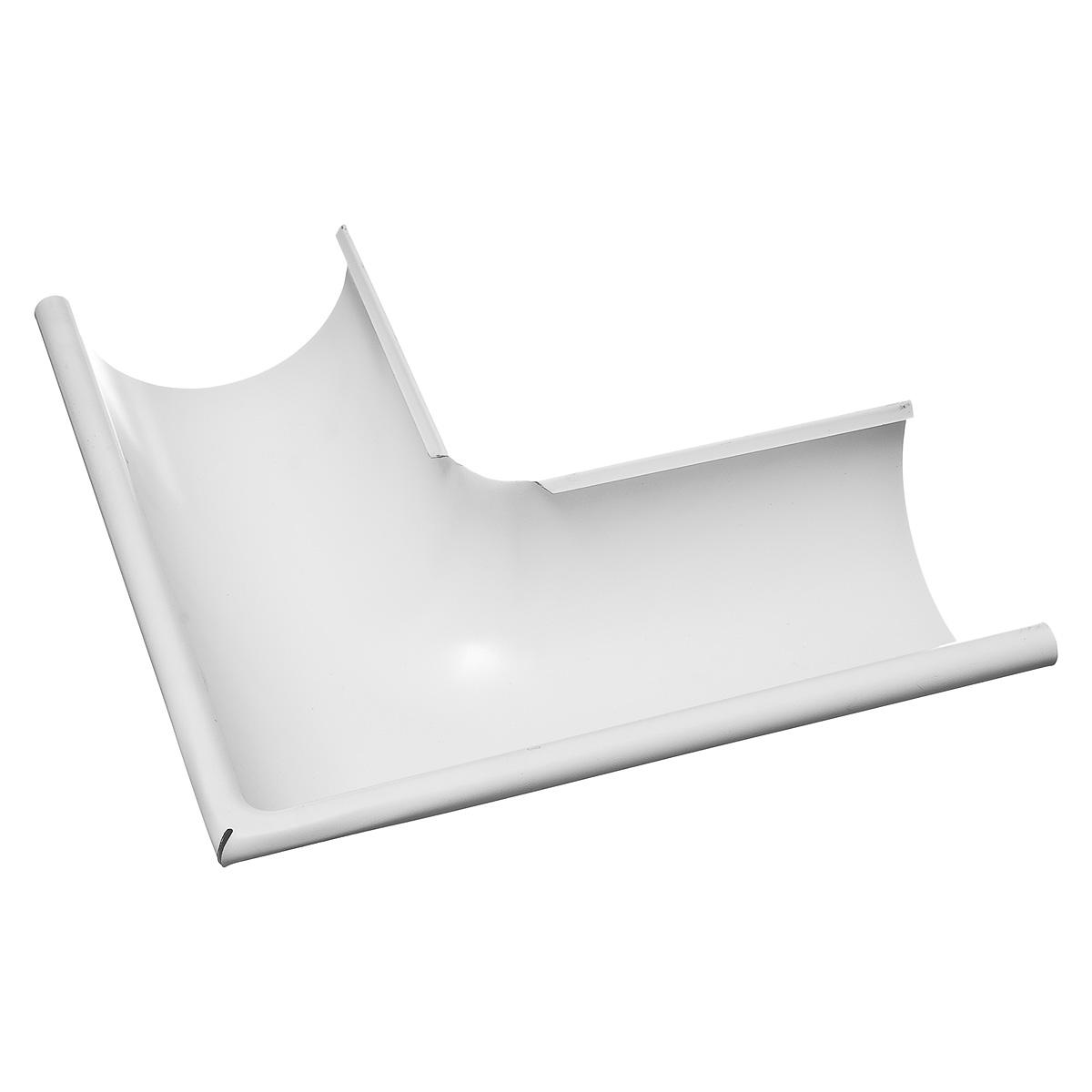 Угол желоба внешний металлический 125/90° белый Grand Line