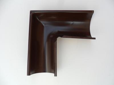 Угол желоба внешний металлический 125/90° коричневый Grand Line  цены