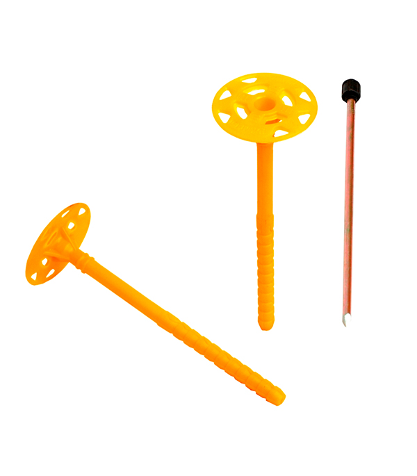 Дюбель для теплоизоляции 10х260 с металлическим гвоздем с термоголовой (250 шт.) Bau-Fix