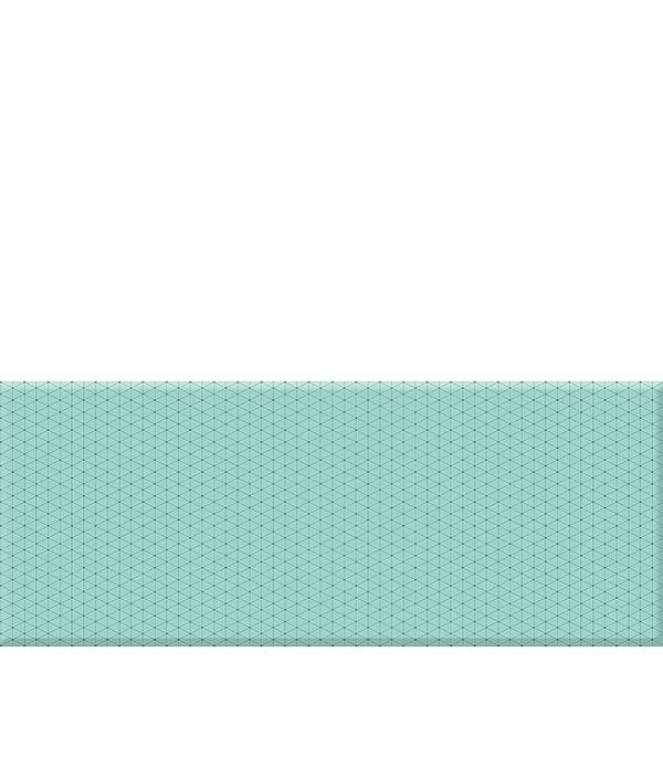 Плитка облицовочная 200х500х9,5 мм Концепт 2Т бирюзовая (13 шт.=1,3 кв.м.)