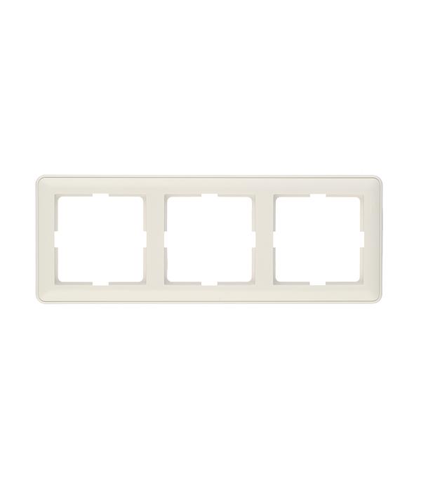 Рамка трехместная Schneider Electric Wessen59 белая