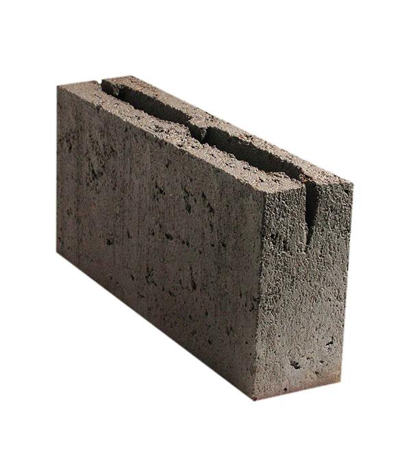 Блок пустотелый керамзитобетонный перегородочный ПКЦ 390x90x188
