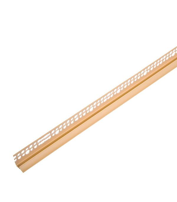 Уголок для кафельной плитки внутренний 7 мм 2,5м бежевый
