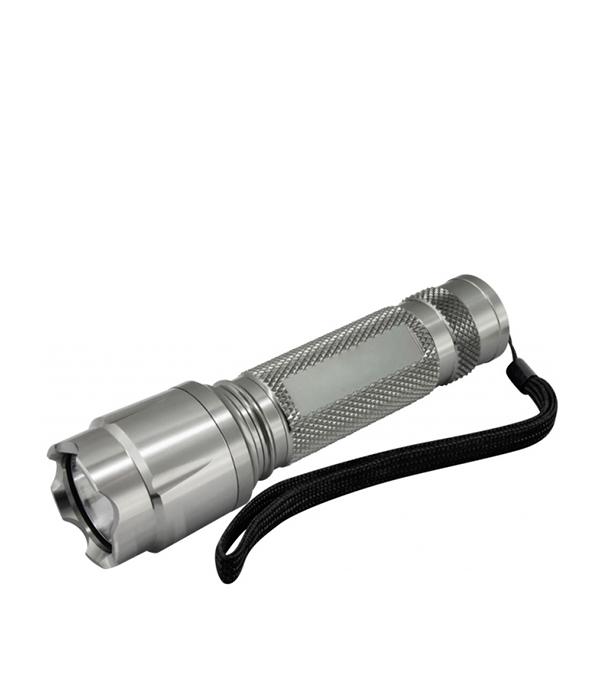 Фонарь ручной светодиодный 1W, алюминиевый корпус, чехол, 3хААА, ЭРА фонарь ручной эра цвет темно серый металл