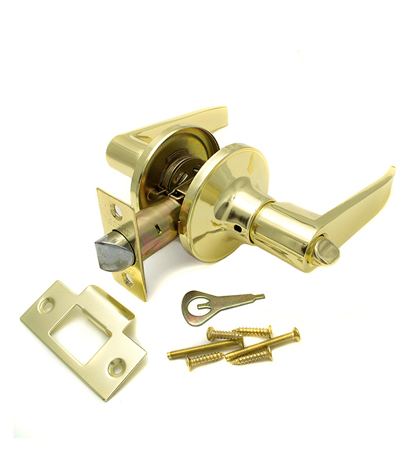 Ручка-защелка дверная Guli 808 ВР ВК золото с заверткой esschert design дверная ручка молоток tt183
