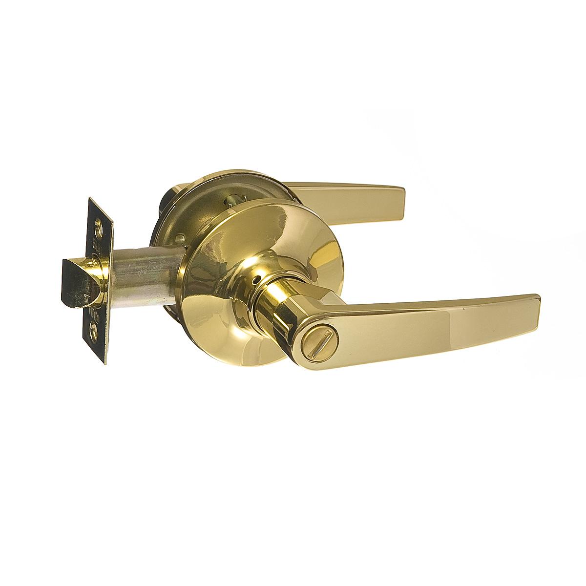 Ручка-защелка дверная Guli 808 ВР ВК (золото) с заверткой