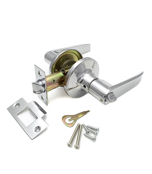 Ручка-защелка дверная Guli 808 СР ВК хром с заверткой esschert design дверная ручка молоток tt183
