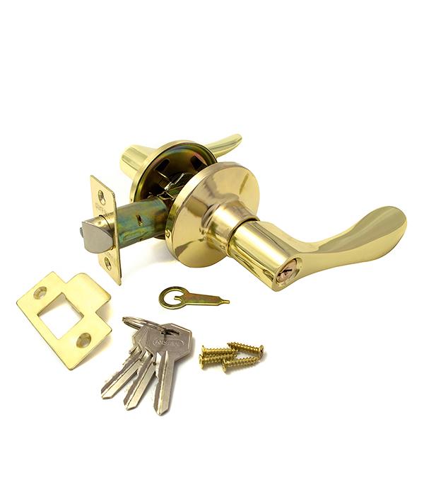 Ручка-защелка дверная Guli 891 ВР ET золото с ключом цена и фото