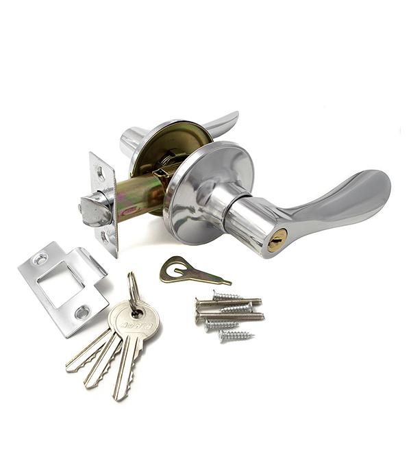 Ручка-защелка дверная Guli 891 СР ET хром с ключом esschert design дверная ручка молоток tt183