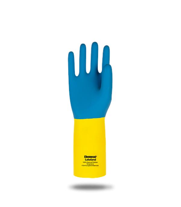 Перчатки резиновые МБС КЩС растворы до 80% краги