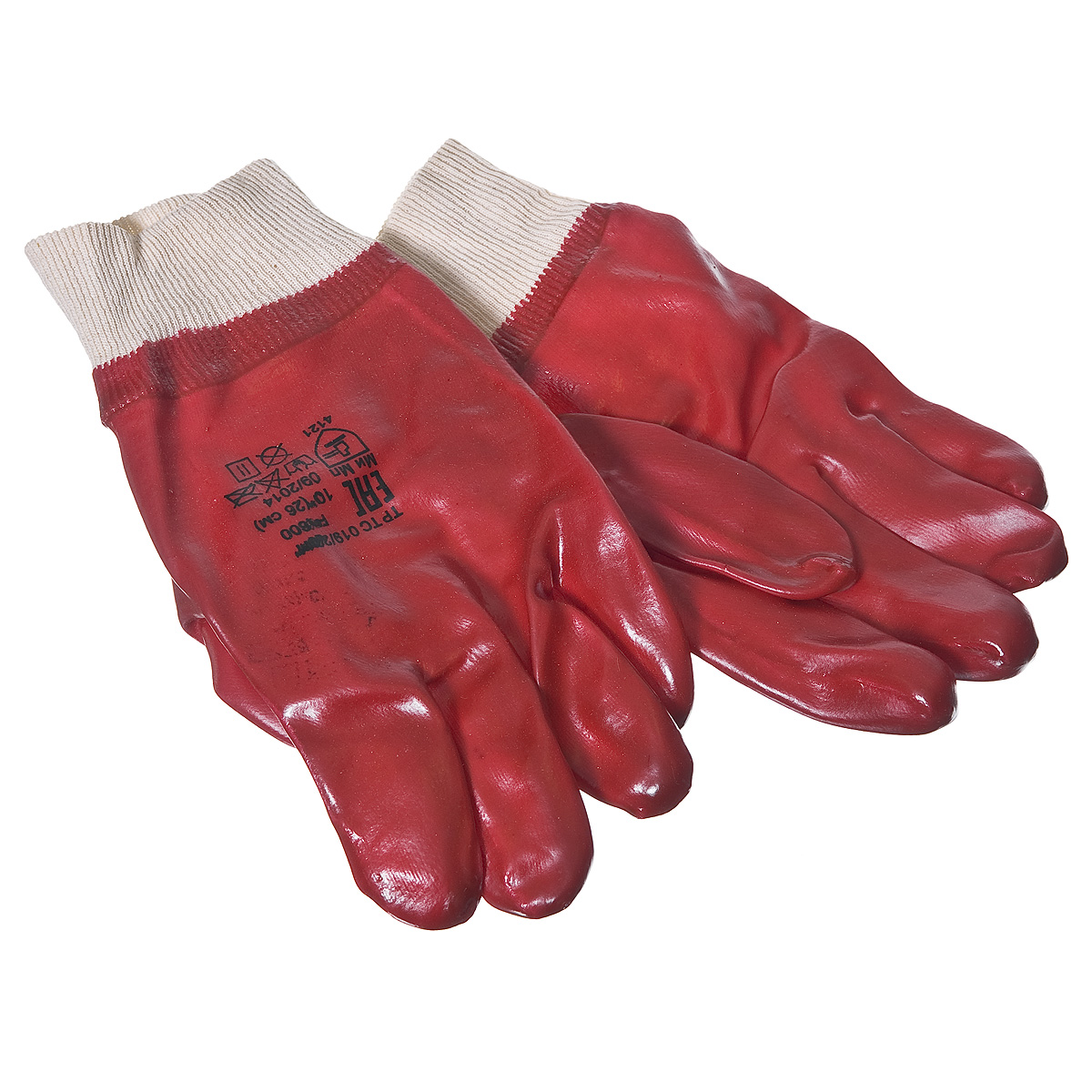 Перчатки х.б. облитые ПВХ МБС, манжета на резинке
