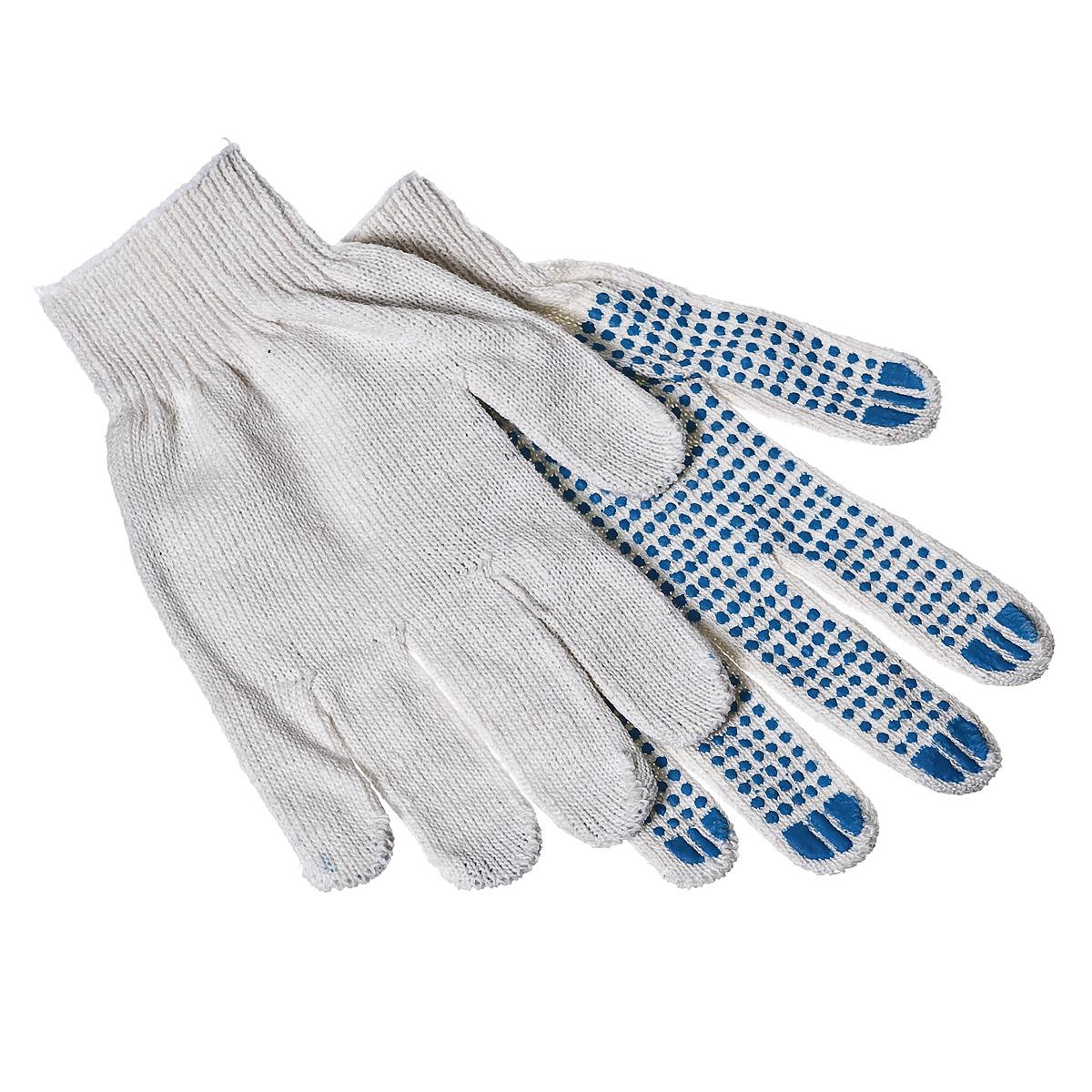 Перчатки 4 нити х.б. с ПВХ покрытием