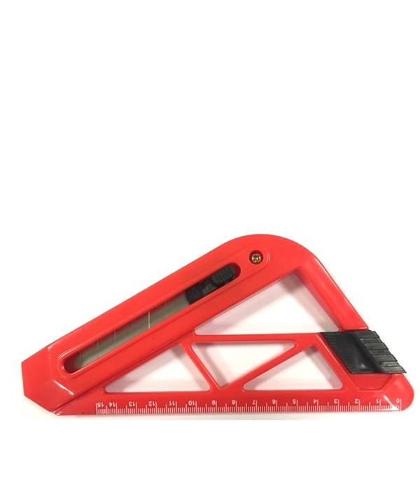 Нож треугольный с линейкой Эконом