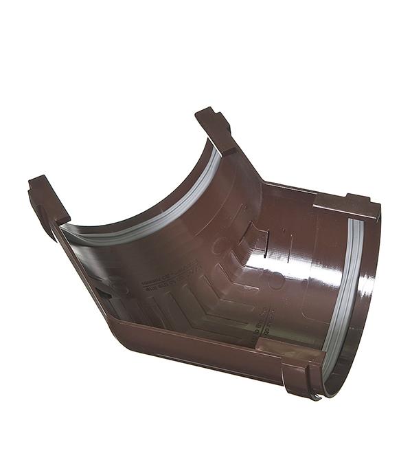 Угол желоба пластиковый  135° универсальный коричневый (кофе), уплотнитель VINYL-ON