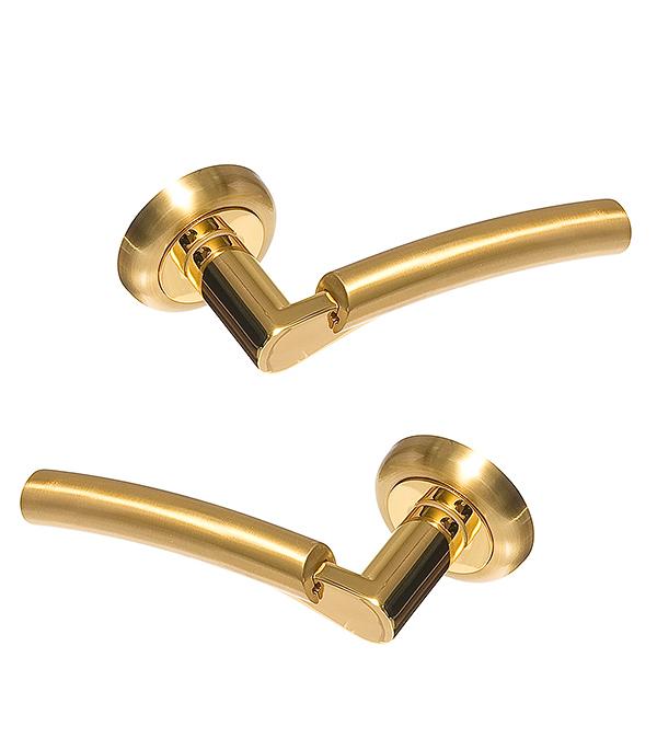 Ручки дверные Оникс Сардиния (золото) A01-111 SG