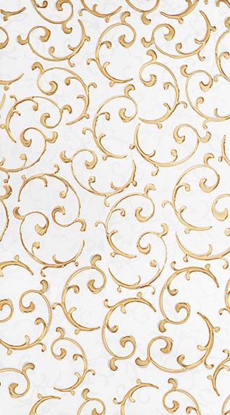 Плитка декор 250х450х8 мм Анастасия орнамент крем
