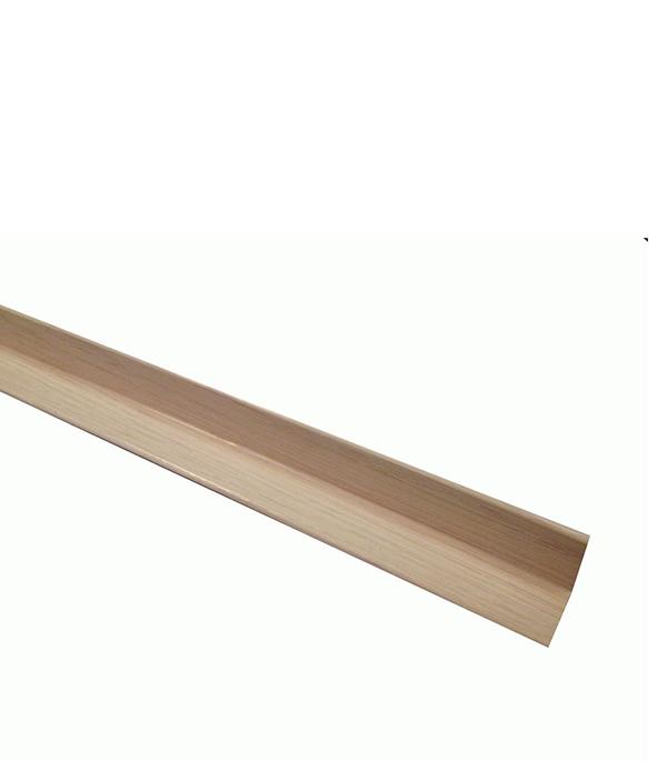 Уголок складной МДФ дуб светлый 28х28х2600 мм Евростар