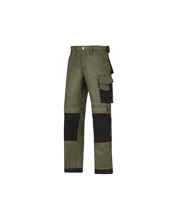 Брюки зеленые, размер 52, рост 170-182 Snickers workwear Профи