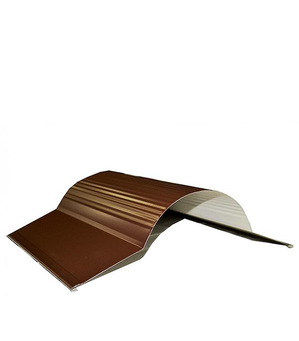 Конек полукгруглый для металлочерепицы 160 мм, 2 м коричневый RAL 8017