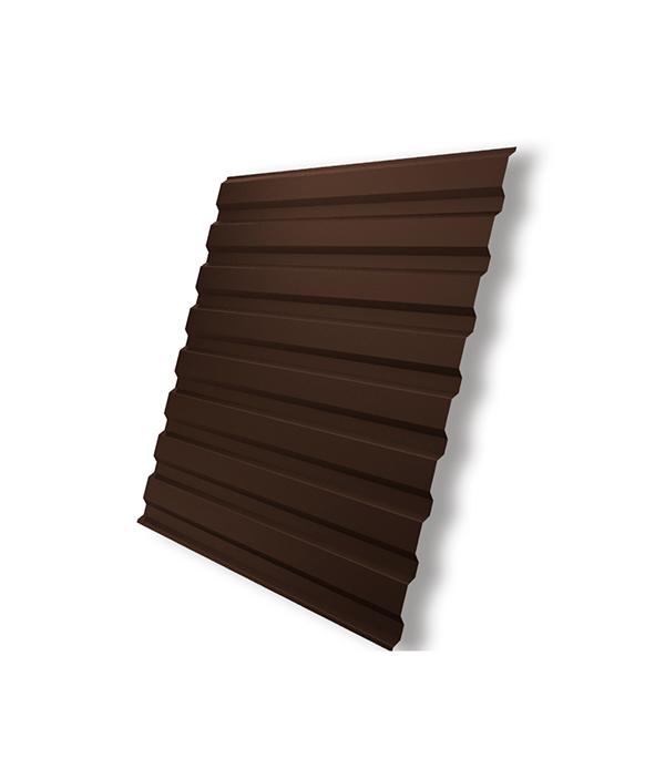 Профнастил С20 1.15х2.00 м толщина 0.5 мм коричневый RAL8017 колпак на столб 400х400 коричневый ral 8017