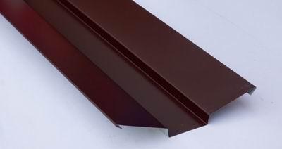 Ендова внешняя для металлочерепицы 2 м коричневая RAL 8017
