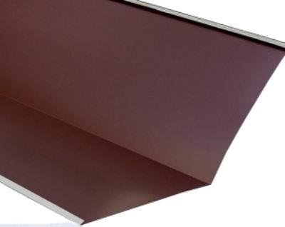 Ендова внутренняя для металлочерепицы 2 м коричневая RAL 8017
