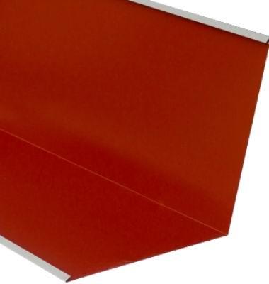Ендова внутренняя для металлочерепицы 2 м красная RAL 3009