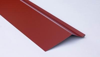 Планка карнизная для металлочерепицы 2 м красная RAL 3009