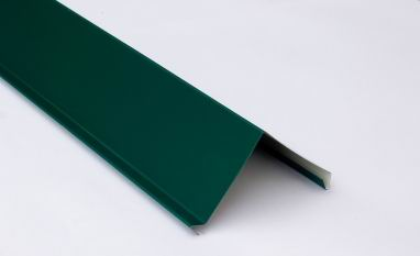 Планка торцевая для металлочерепицы 2 м зеленая RAL 6005