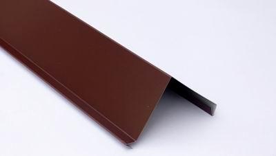 Планка торцевая для металлочерепицы 2 м коричневая RAL 8017