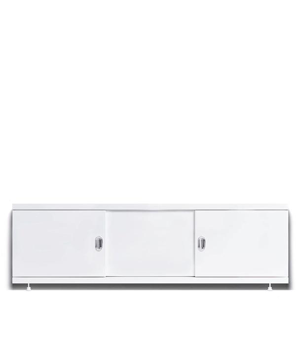 Экран под ванну МДФ Alavann  Steel купе белый 1700 мм экран для ванны alavann мд 0107 1800 00