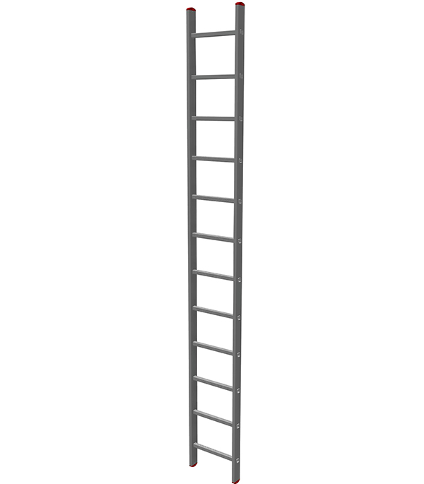 Лестница приставная 12 ступеней Новая высота Эконом